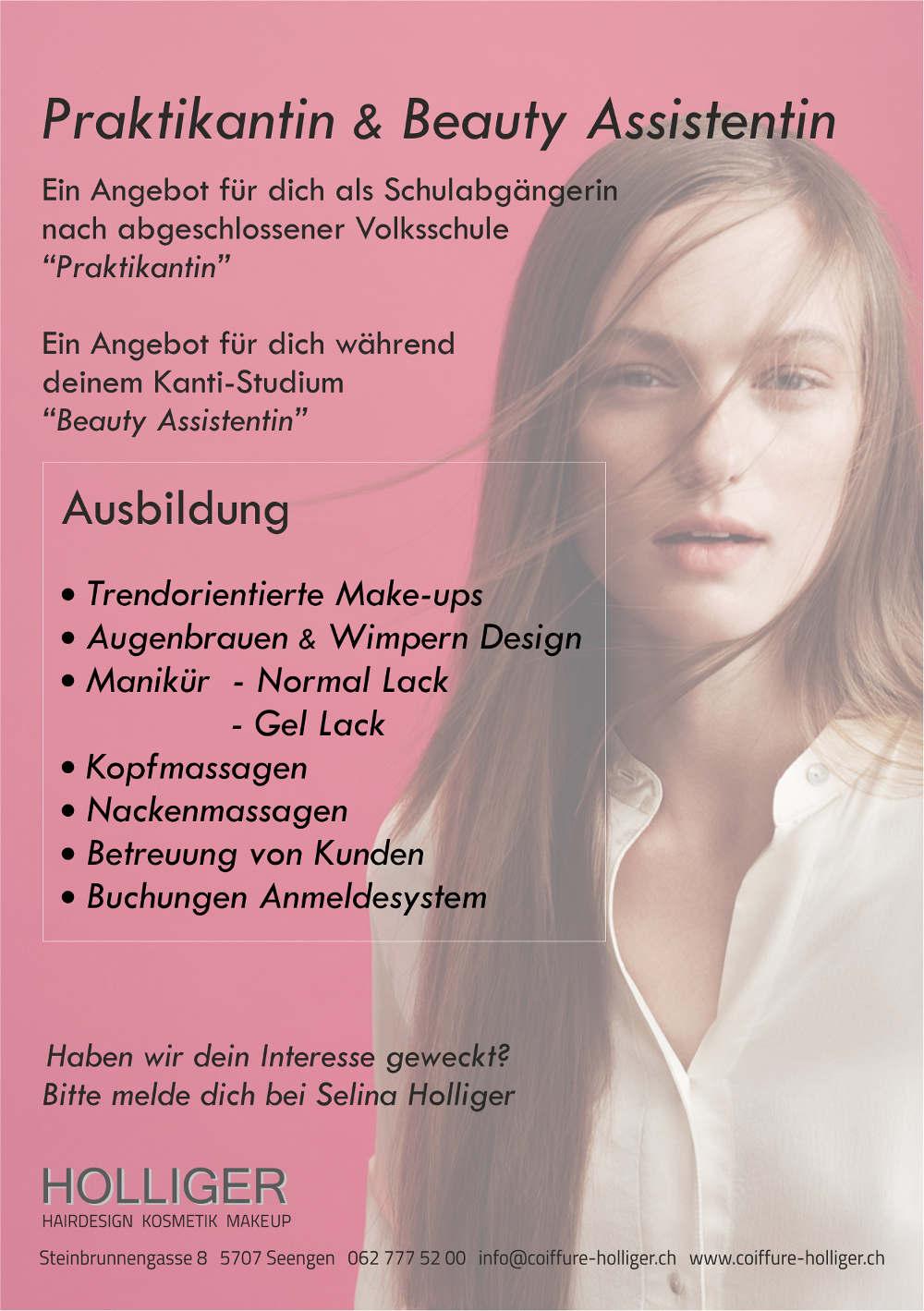 Coiffeur Seengen Praktikantin Beauty Assistentin